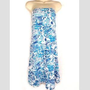 Lilly Pulitzer Fresh Catch Tolie Strapless Dress M